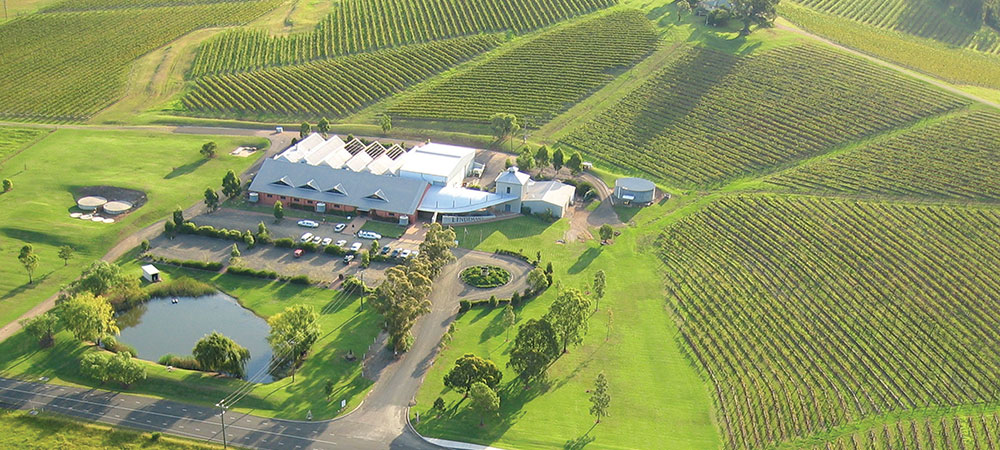 Aerial view of Lindeman's Winery buildings