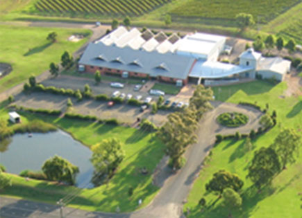 View of Lindeman's winery from the air