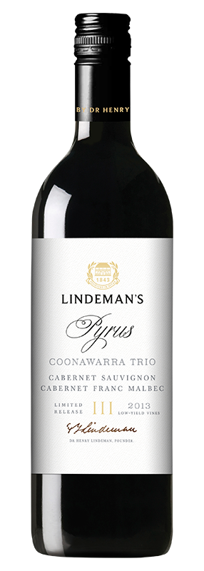 Bottle of Lindemans Pyrus Coonawarra Trio Cabernet Sauvigon
